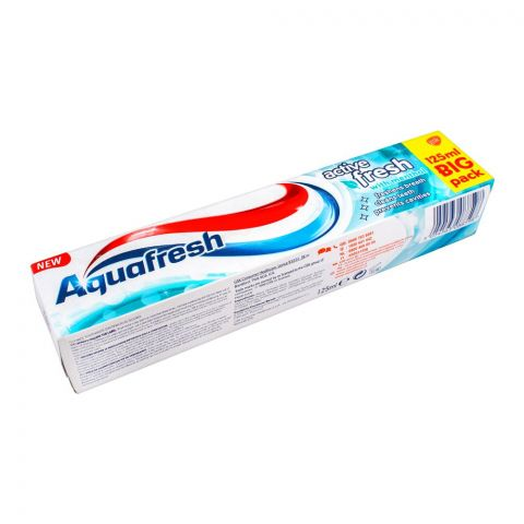 Aquafresh Active White With Menthol Toothpaste, 125ml