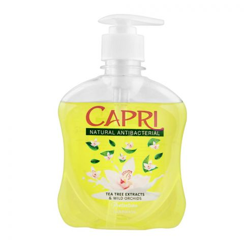 Capri Antibacterial Hand Wash, Tea Tree Extracts & Wild Orchids, 250ml