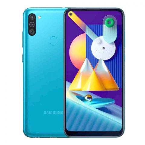 Samsung Galaxy M11 3GB/32GB Smartphone, Metallic Blue, 6.4 Inches Display, SM-M115