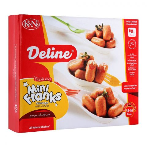 K&N's Deline Mini Franks Sausage With Cheese, 54-56 Pieces, 700g