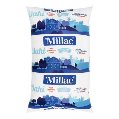 Millac Plain Yogurt, Pouch, 1 KG