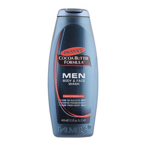 Palmer's Cocoa Butter Formula Men Body & Face Wash, With Vitamin E, Paraben & Sulfate Free, 400ml