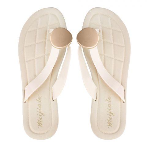 Women's Slippers, G-8, Beige