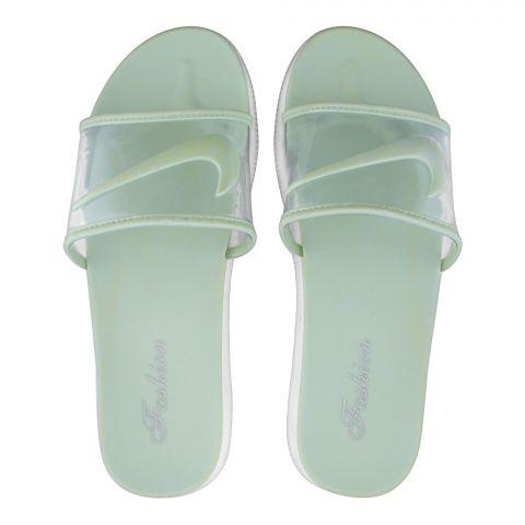 Women's Slippers, G-12, Green