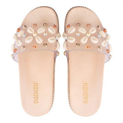Women's Slippers, G-15, Golden