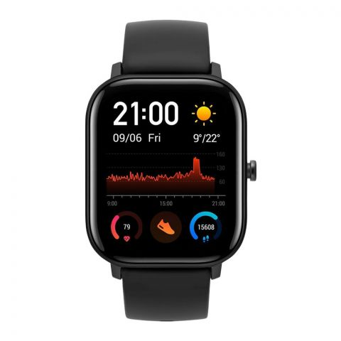 Amazfit GTS Smart Watch, Obsidian Black, A1914