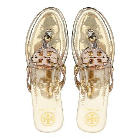 Tory Burch Style Women's Slippers, Golden