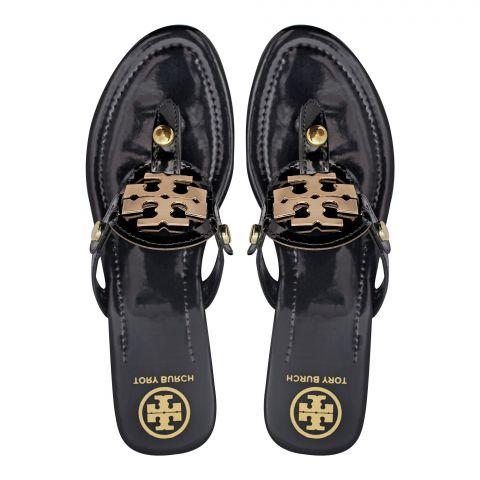 Tory Burch Style Women's Slippers, Black