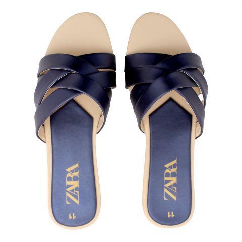 Zara Style Women's Slippers, Blue