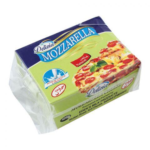 Delizia Mozzarella Cheese, Natural, 400g