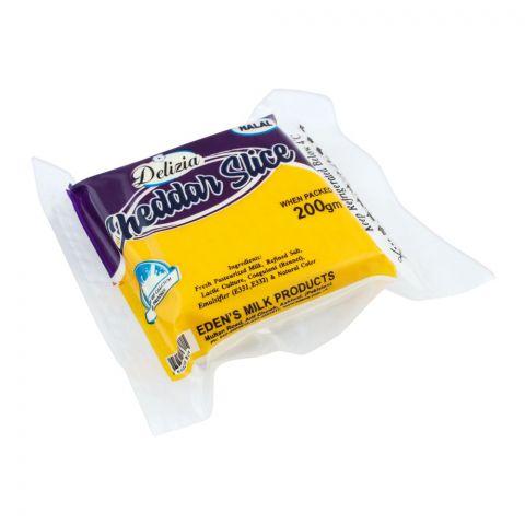 Delizia Cheddar Slice Cheese, 200g