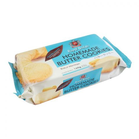 Royal British Home Made Butter Cookies, 160g