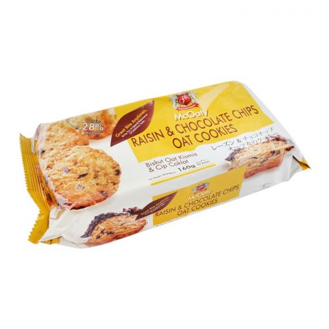 McOaty Raisin & Chocolate Chips Oat Cookies, 160g
