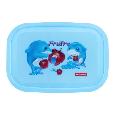 Lion Star Japan Seal Ware Lunch Box, Blue, 7.5x5x2 Inches, BC-9