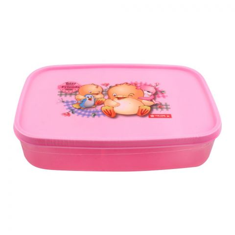 Lion Star Japan Seal Ware Lunch Box, 7.5x5x2 Inches, Pink, BC-9