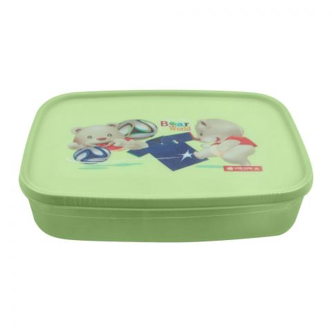 Lion Star Japan Seal Ware Lunch Box, Green, 7.5x5x2 Inches, xBC-9