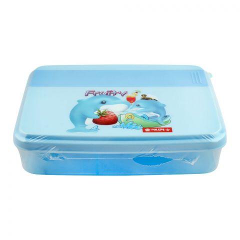 Lion Star Mario Lunch Box, Blue, 6.5x5x1 Inches, FB-1