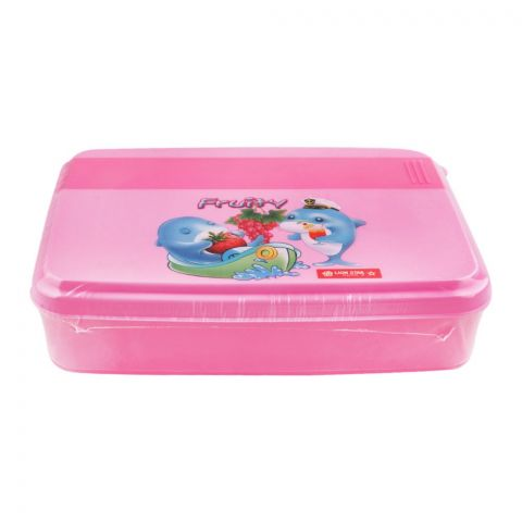 Lion Star Mario Lunch Box, Pink, 6x5x1 Inches, FB-1