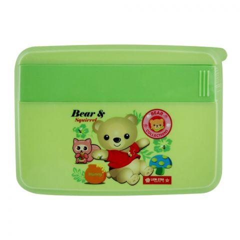 Lion Star Mario Lunch Box, Green, 6.5x5x1 Inches, FB-1