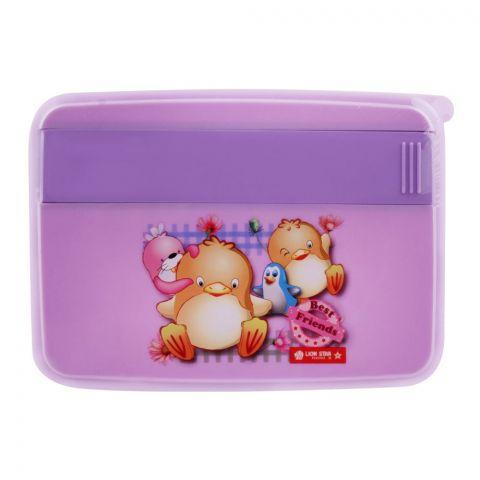 Lion Star Mario Lunch Box, Purple, 6x4x1.5 Inches, FB-1