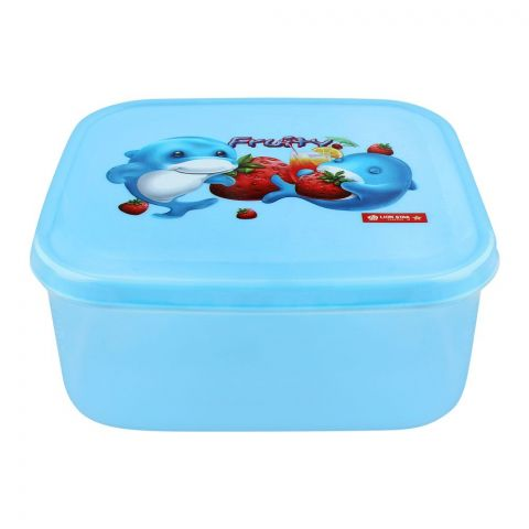 Lion Star Fruity Listy Lunch Box, 6x5.5x2.5 Inches, Blue, MC-33