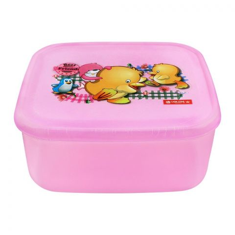 Lion Star Listy Lunch Box, Pink, 6x5.5x2.5 Inches, MC-33