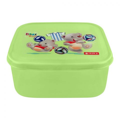 Lion Star Listy Lunch Box, Green, 6x5.5x2 Inches, MC-33