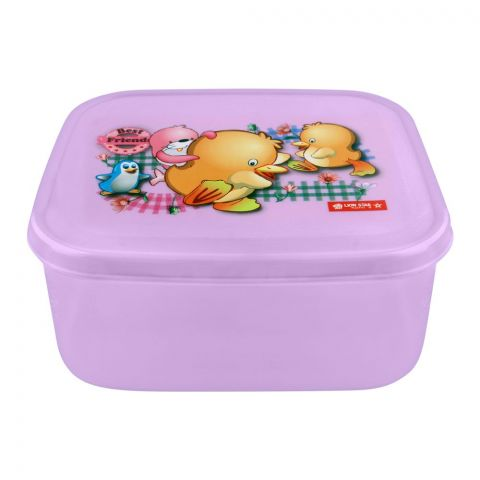 Lion Star Listy Lunch Box, 6x5.5x2.5 Inches, Purple, MC-33