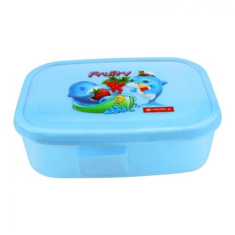 Lion Star Fruity Bela Lunch Box, 6x4x2 Inches, Blue MC-36