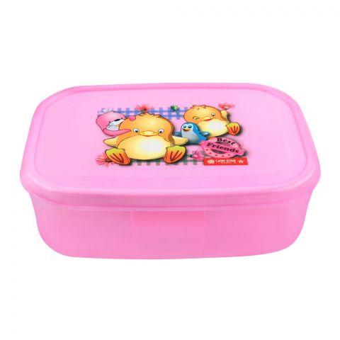 Lion Star Bela Lunch Box, Pink, 6x4x1.5 Inches, MC-36