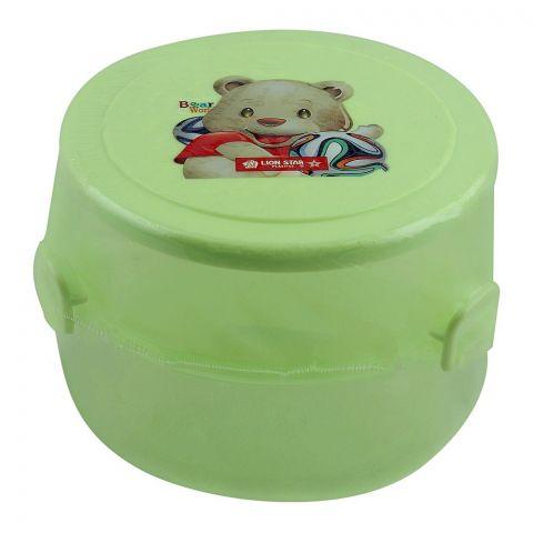 Lion Star Round Pop Lunch Box, Green, 4x3 Inches, SB-14