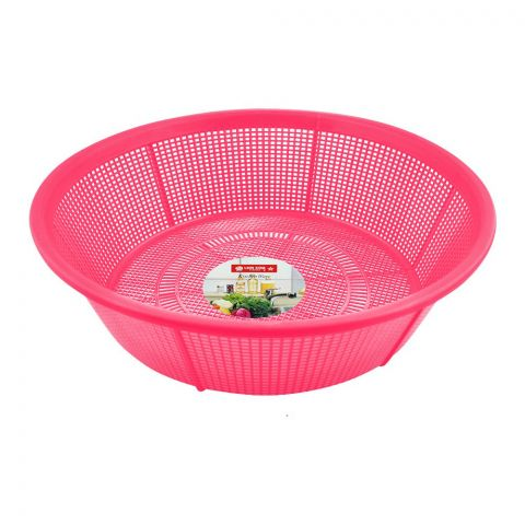 Lion Star Basin Strainer, 28cm, 8 Inches Diameter, Pink, BA-34