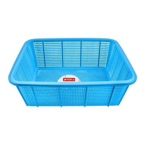 Lion Star Square Basket, Medium, Blue, 15x11.5x5 Inches, BW-27