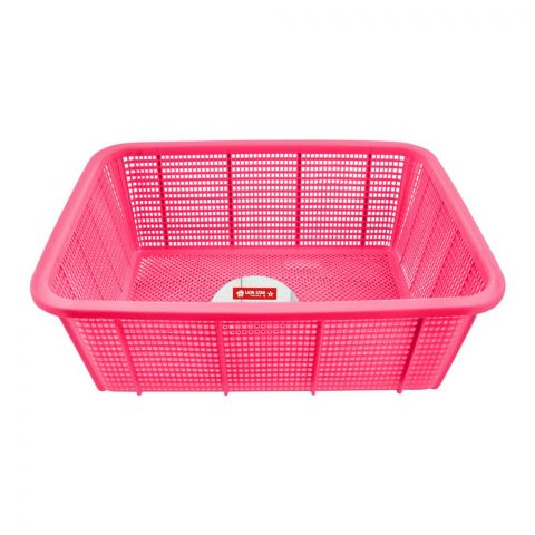 Lion Star Square Basket, Medium, Pink, 15x11x5 Inches, BW-27
