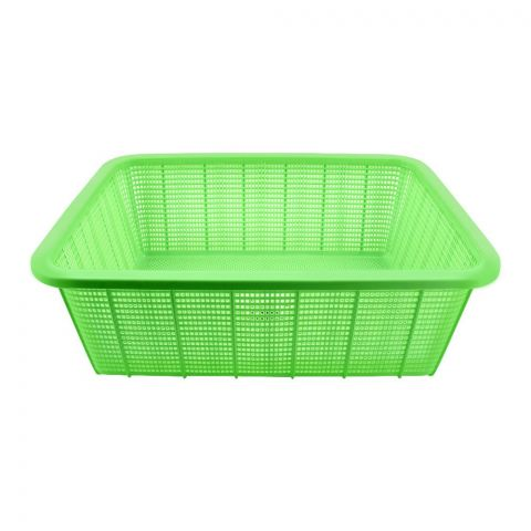 Lion Star Square Basket, Medium, 15x12x5 Inches, Green, BW-27