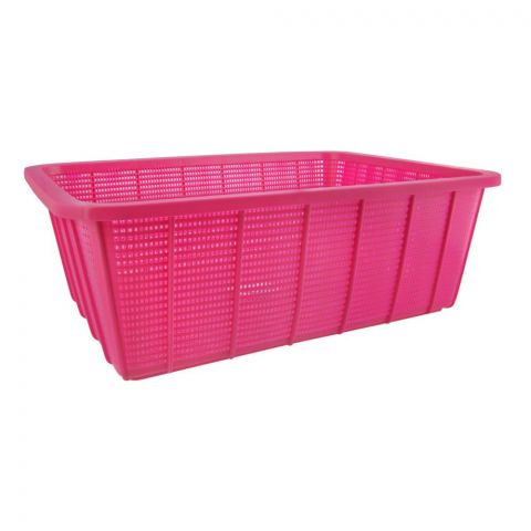 Lion Star Square Basket, Large, Pink, 19x14x6 Inches, BW-28