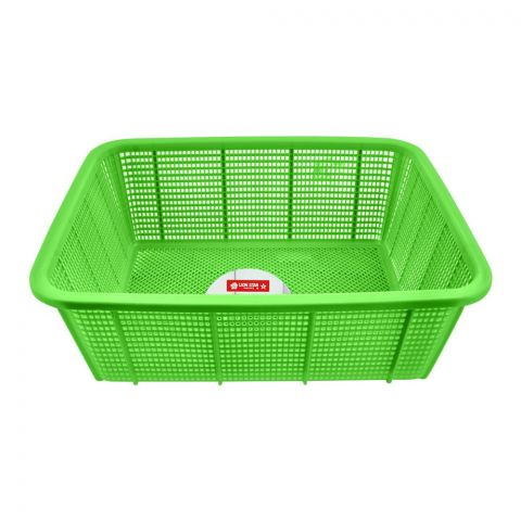 Lion Star Basket Square, Large, 19x14.5x7 Inches, Green, BW-28