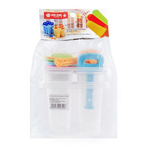 Lion Star Ollio Icicle Ice Lolly Tray, Transparent, IT-3