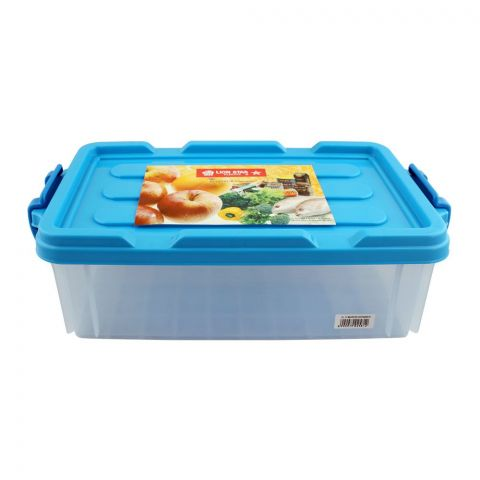 Lion Star Maxstor Food Container, 01 Blue, 11x7x4 Inches, JX-11