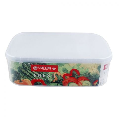 Lion Star Fresh Seal Ware Food Container, Transparent, 9x6x2.5 inches, 1880ml, SW-28