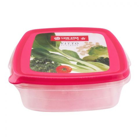 Lion Star Vitto Seal Ware Food Container, Pink, 750ml, VT-1