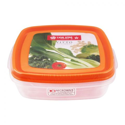 Lion Star Vitto Seal Ware Food Container, Orange, 750ml, VT-1