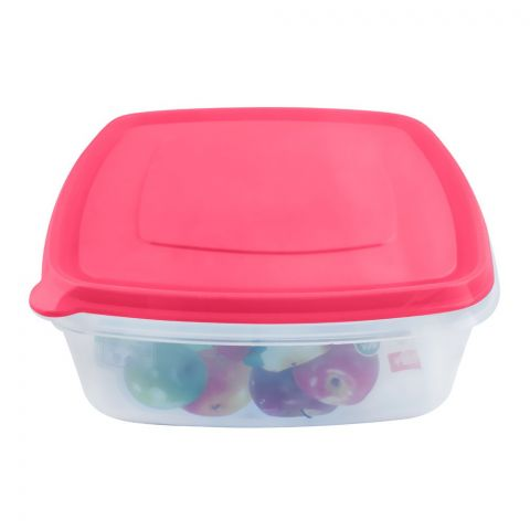 Lion Star Vitto Seal Ware Food Container, Pink, 8x7x3 Inches, 1500ml, VT-2