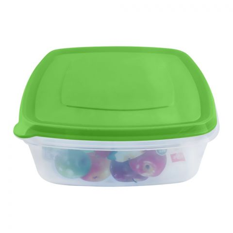 Lion Star Vitto Seal Ware Food Container, Green, 8x8x3 Inches, 1500ml, VT-2