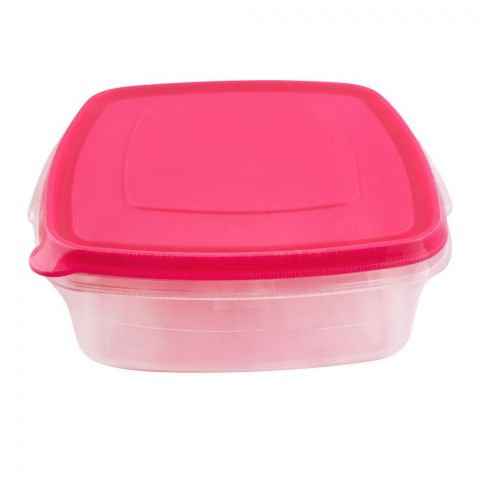 Lion Star Vitto Seal Ware Food Container, 3 Liters, 10x8x3 Inches, Pink VT-3