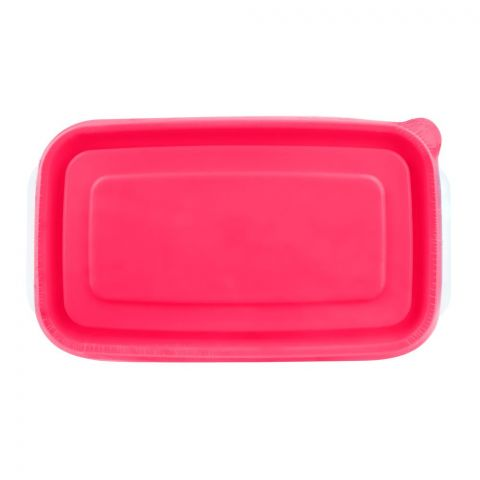 Lion Star Vitto Seal Ware Food Container, Pink, 7.7x5x2 Inches, 480ml, VT-4