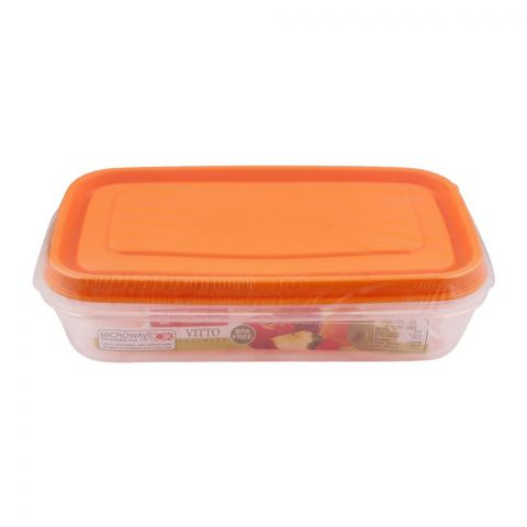 Lion Star Vitto Seal Ware Food Container, Orange, 480ml, VT-4