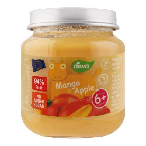 Deva Baby Food, Mango & Apple, 6m+, No Added Sugar, 125g