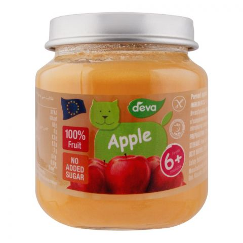 Deva Baby Food, Apple, 6m+, No Added Sugar, 125g