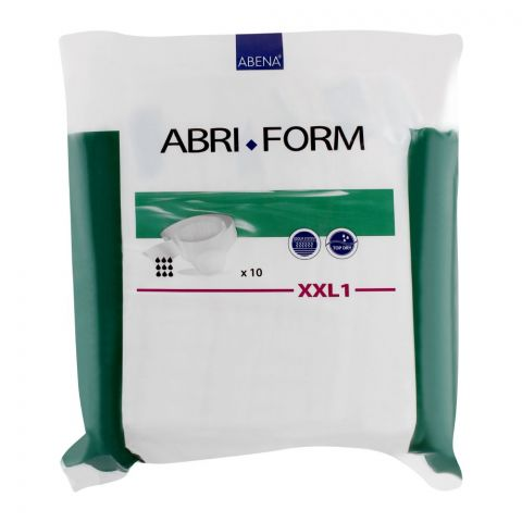 Abena Abri Form All-In-One Adult Incontinence Briefs, XXL1, 100 Inches, 10-Pack